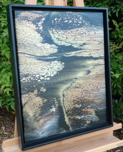 Gold On Black Painting
