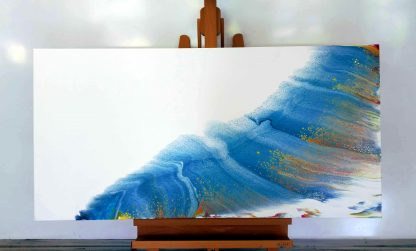 56 blue rainbow easel