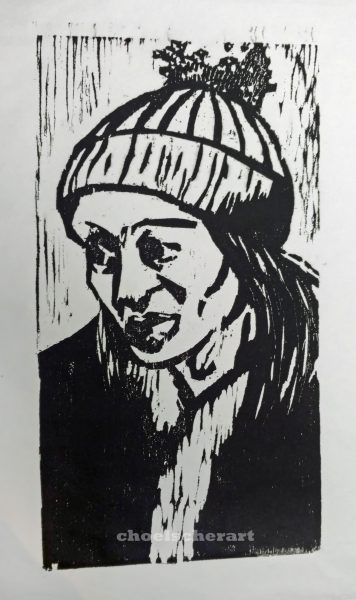 Toboggan Woodblock
